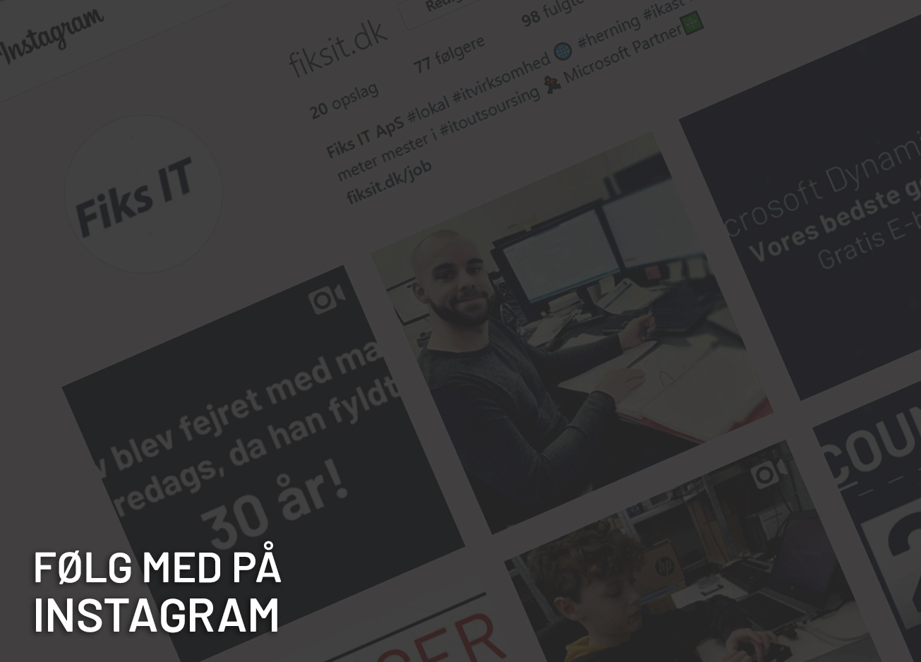 Følg Fiks IT på Instagram