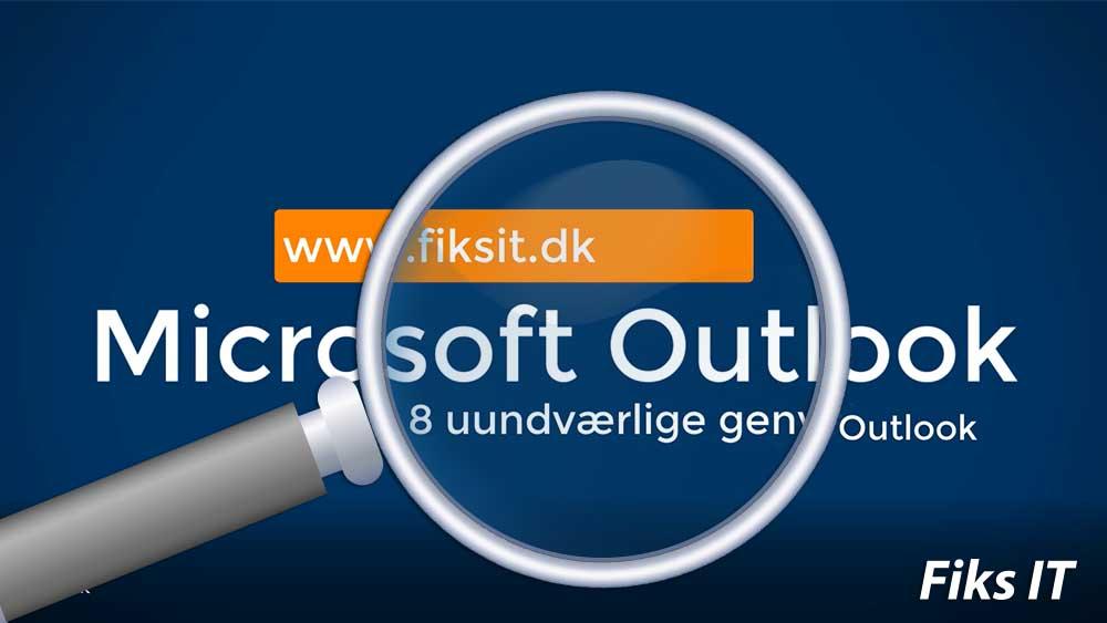 Genvejstaster til Microsoft Outlook