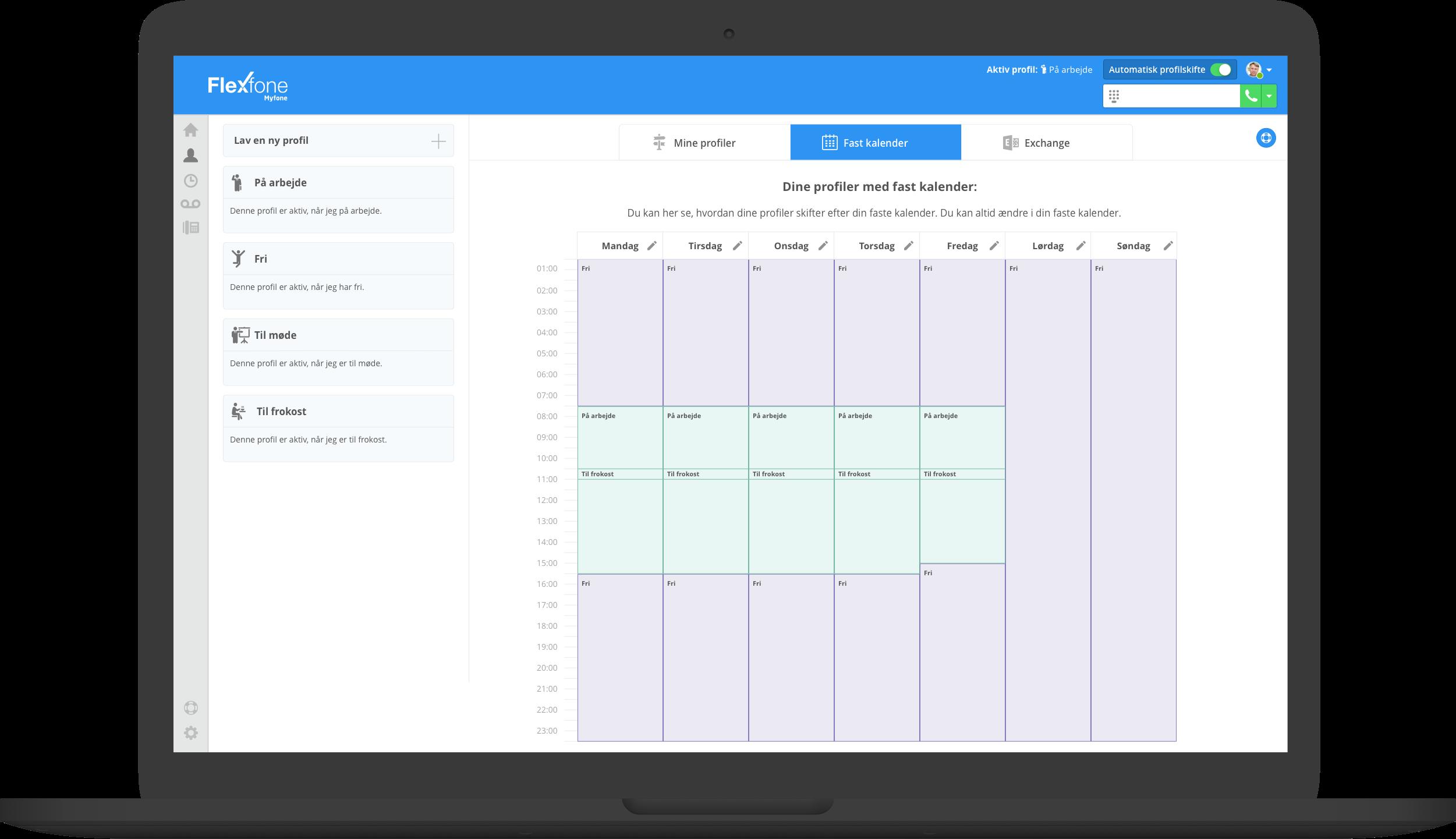 Flexfone Myfone giver overblik over kontakter og kolleger