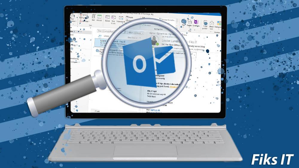 Vedhæft en mail i Outlook